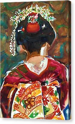 Geisha Girl Canvas Print by Therese Fowler-Bailey