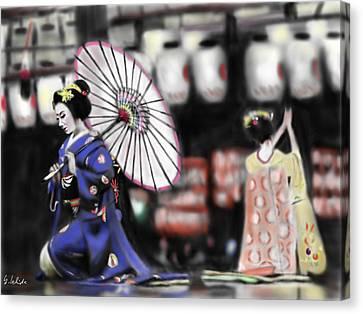 Geisha No.109 Canvas Print by Yoshiyuki Uchida