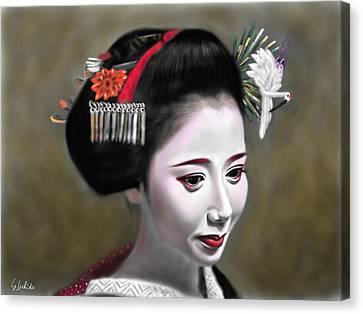 Geisha No.145 Canvas Print by Yoshiyuki Uchida