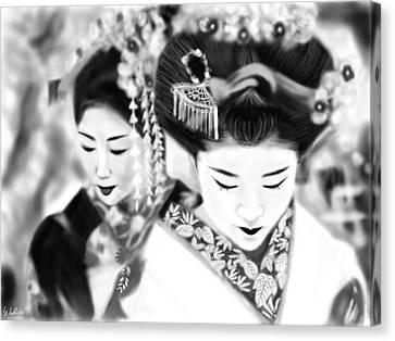 Geisha No.160 Canvas Print by Yoshiyuki Uchida