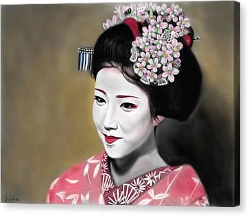 Geisha No.166 Canvas Print by Yoshiyuki Uchida