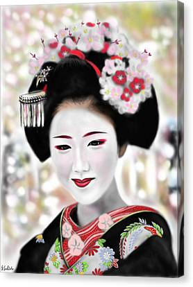 Geisha No.168 Canvas Print by Yoshiyuki Uchida
