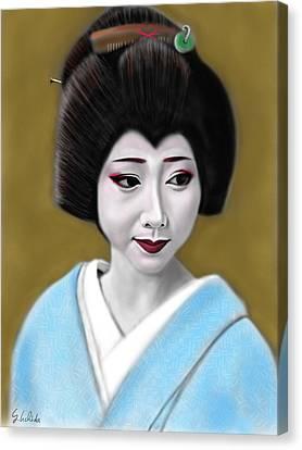Geisha No.179 Canvas Print by Yoshiyuki Uchida