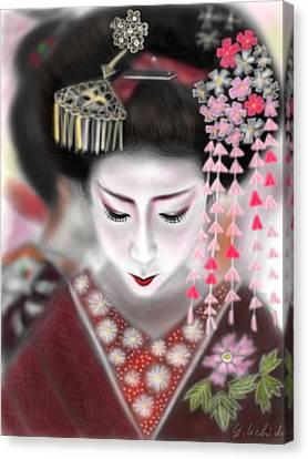 Geisha No.2 Canvas Print by Yoshiyuki Uchida