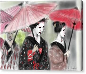 Geisha No.3 Canvas Print by Yoshiyuki Uchida