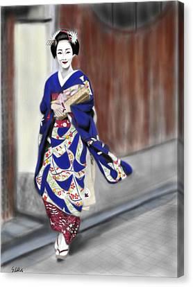 Geisha No.6 Canvas Print by Yoshiyuki Uchida