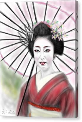 Geisha No.8 Canvas Print by Yoshiyuki Uchida