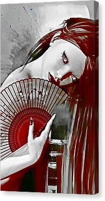 Geisha Red Canvas Print by Shanina Conway