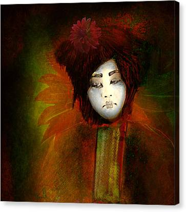 Geisha5 - Geisha Series Canvas Print by Jeff Burgess