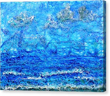 Gelid Seascape Revised Canvas Print by Regina Valluzzi