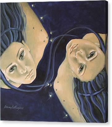 Gemini From Zodiac Series Canvas Print by Dorina  Costras