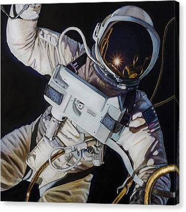 Gemini Iv- Ed White Canvas Print by Simon Kregar