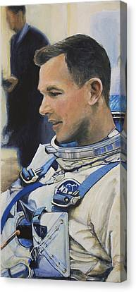 Gemini Viii Dave Scott Canvas Print by Simon Kregar