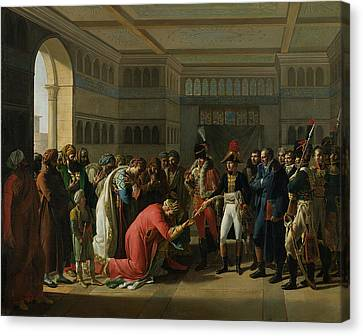 General Bonaparte Giving A Sword To The Military Chief Of Alexandria, July 1798, 1808 Oil On Canvas Canvas Print by Francois Henri Mulard