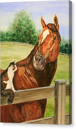 General Charlie And Whirlaway The Cat Portrait Canvas Print by Kristine Plum