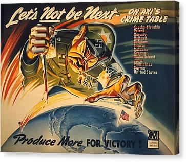 General Motors World War 2 Poster. Lets Canvas Print by Everett