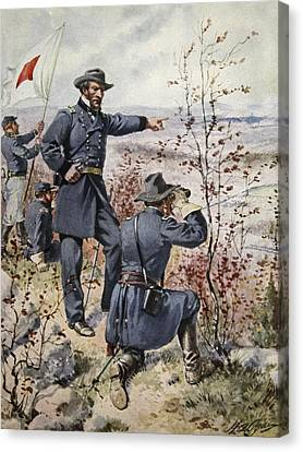 General Sherman At Kenesaw Mountain Canvas Print by Henry Alexander Ogden