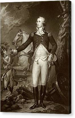 General Washington At Trenton Canvas Print by American Philosophical Society