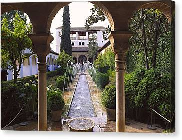 Generalife Alhambra. Spain. Andalusia Canvas Print by Everett