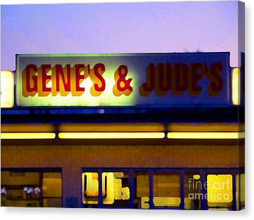 Genes  And Judes Canvas Print by David Bearden
