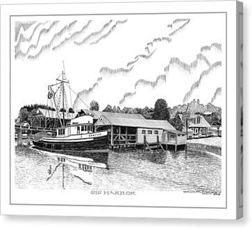 Fishing Trawler Genius Formaly Of Gig Harbor Canvas Print by Jack Pumphrey