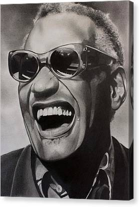 Genius Of Soul Canvas Print by Brian Broadway