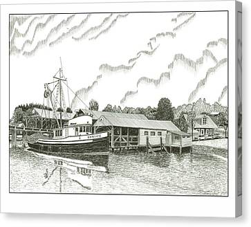 Genius Ready To Fish Gig Harbor Canvas Print by Jack Pumphrey