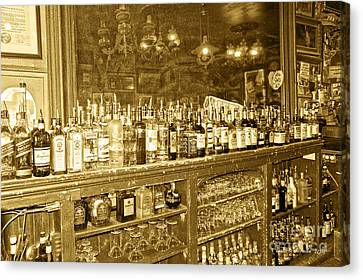 Genoa Bar Oldest Saloon In Nevada's Old West History Canvas Print by Artist and Photographer Laura Wrede