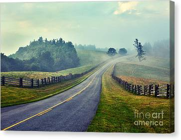 Gentle Morning - Blue Ridge Parkway II Canvas Print by Dan Carmichael