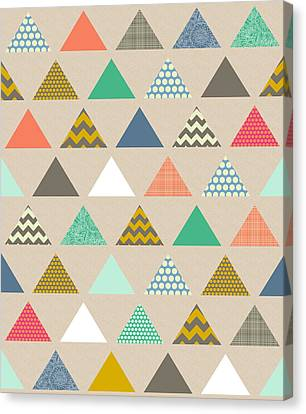 Geo Triangles Canvas Print by Sharon Turner