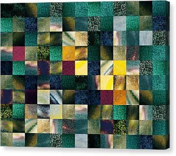 Geometric Abstract Design Forest Lights Canvas Print by Irina Sztukowski