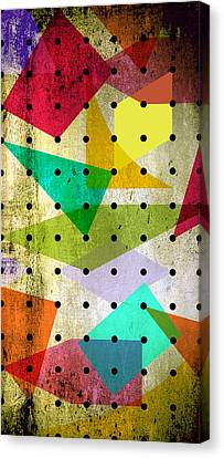 Geometric In Colors  Canvas Print by Mark Ashkenazi