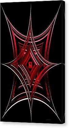Geometric Spiderweb Canvas Print by Mario Perez