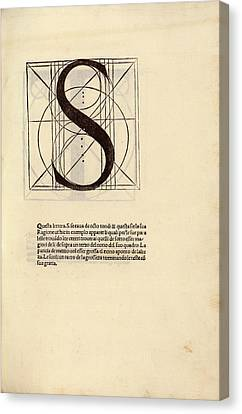 Geometrical Letter 's' Canvas Print by Library Of Congress