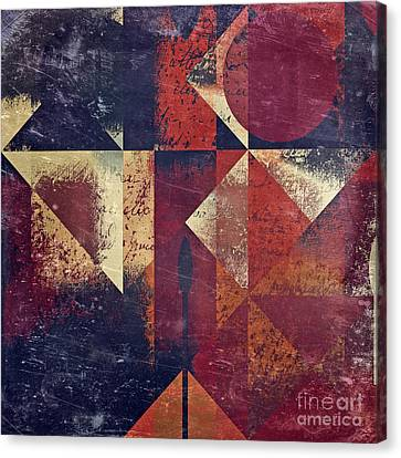 Geomix 04 - 63bv2-t7c Canvas Print by Variance Collections