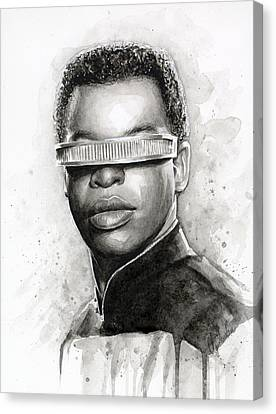 Geordi La Forge - Star Trek Art Canvas Print by Olga Shvartsur