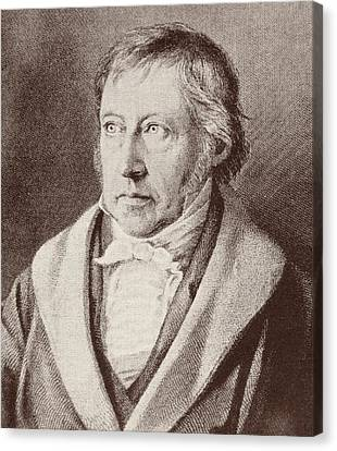 Georg Hegel  Canvas Print by Anonymous