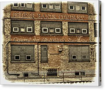 George Banta Company Canvas Print by Thomas Young