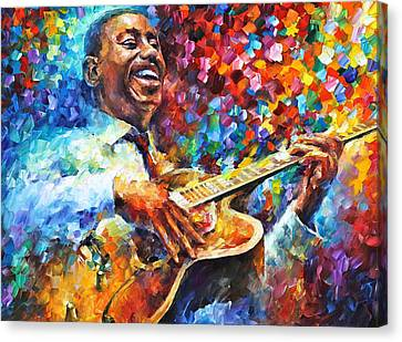 Wes Montgomery Canvas Print by Leonid Afremov