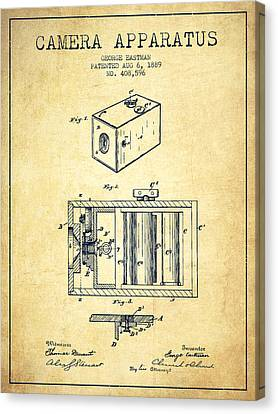 George Eastman Camera Apparatus Patent From 1889 - Vintage Canvas Print by Aged Pixel