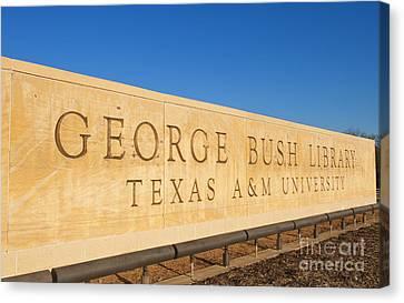 George H. Bush Library, Texas Canvas Print by Bill Bachmann