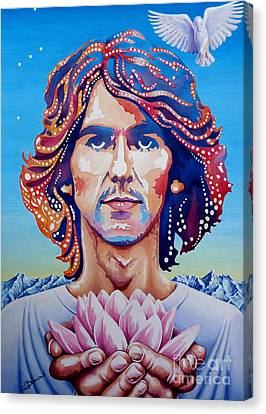 George Harrison Canvas Print by Debbie  Diamond