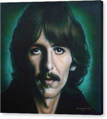 George Harrison Canvas Print by Tim  Scoggins