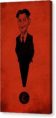George Orwell Canvas Print by Thomas Seltzer