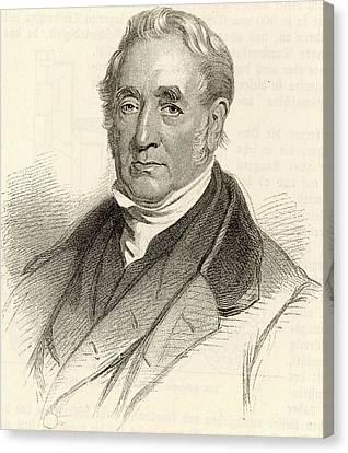George Stephenson Canvas Print by Universal History Archive/uig