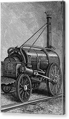George Stephenson's 'rocket' Canvas Print by Universal History Archive/uig