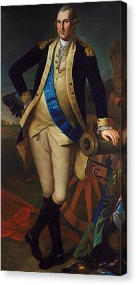 George Washington Canvas Print by Charles Wilson Peale