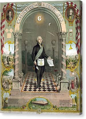 George Washington Freemason Canvas Print by Photo Researchers