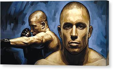 Georges St-pierre Artwork Canvas Print by Sheraz A