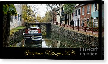 Georgetown Canal Poster Canvas Print by Olivier Le Queinec